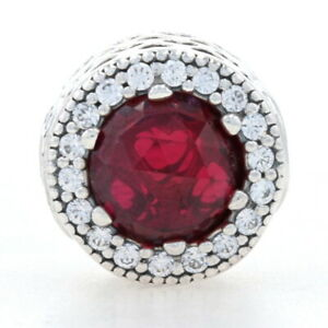 NEW Authentic Pandora Essence Passion Charm Sterling Synthetic Ruby 796441SRU