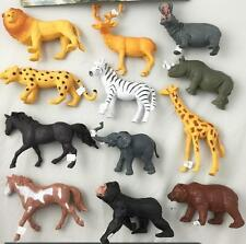 2 pack ASSORTED PLAY 7 INCH RUBBER ZOO WILD ANIMALS toy plastic pvc  play animal