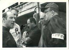 Stirling Moss F1 Driver Portrait Signed Press Photograph 2