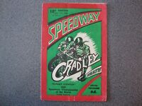 SPEEDWAY PROGRAMME CRADLEY HEATH. WORLD CHAMPIONSHIP Q/R 31/7/1950.