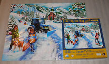 Clearing Way Jigsaw Puzzle Mary Thompson SunsOut Snow Holiday 1000 Plow Sled