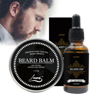 Natural Beard Oil And Balm Moustache Wax Kit For Styling Beeswax Moisturizing US