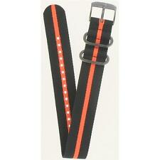 Luminox 23mm Textile Black/Orange Striped Navy SEAL Watch Band FNL395035