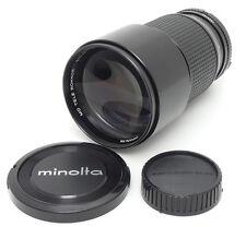 Minolta MD Tele Rokkor 200mm F2.8 Lens. Filter For Minolta MD