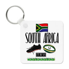 South Africa Rugby Keyring Key Chain - Funny League Union Flag