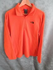 The North Face Pull Over 1/4 Zip Fleece Jacket Size M High Visibility Orange