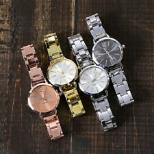 Women Casual Stainless Steel Band Marble Strap Watch Ladies Analog Wrist Watches