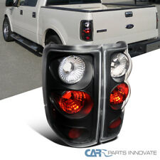 Ford 04-08 F150 Styleside Pickup Tail Lights Brake Stop Rear Lamps Black Clear