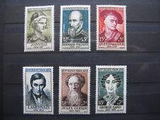 FRANCE neufs n° 1108 à 1113  CELEBRITES (1957)