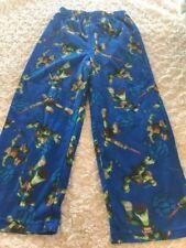 Teenage Mutant Ninja Turtles Boys Blue Green Fleece Pajama Pants 6