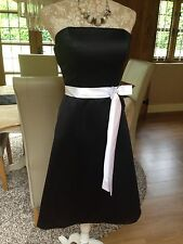 LIGHT IN THE BOX BLACK WHITE BANDEAU PEAKY BLINDERS OCCASION DRESS 10 12 BNWT