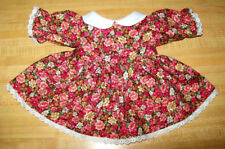 """16-18"""" CPK Cabbage Patch Kids  ROSE PINK CORAL FLOWERS DRESS W/ COLLAR+ LACE"""