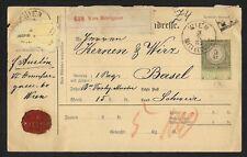 Austria 1881 5Kr parcel card to Switzerland