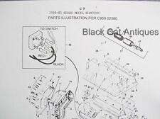 Canadiana Illustr Parts List 1984-85 Sears Electric Snow Shovel Model C950-52380