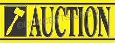 2'X5' AUCTION BANNER Outdoor Sign Auto Storage Unit Agriculture Equipment Sales