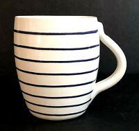 Starbucks Ceramiche Toscane Coffee Mug Hand Painted Blue Striped Italy 1999 C33