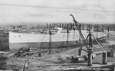 "c1910 Cunard Liner ""Aquitania"" Before Launch Postcard"