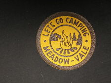 Let's Go Camping  Meadow-Vale woven 3 inch round patch  cpp