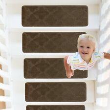 RainDecor Stair Treads Trellis Design Soft Carpet Surface Slip Resistant Backing