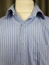 "Thomas Pink 100% Cotton Traveller Classic Blue Striped Shirt 16.5"" 36.5cm C44"""