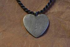 Herzanhänger aus massiven Sterling Silber mit Satin Kette