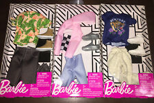 Barbie Ken Fashion Clothing  3 Lot New in Package