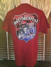 Men's VGUC GILDAN XL Red 23rd Annual Biketoberfest 2015 Daytona Beach T-Shirt
