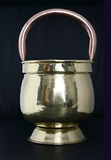 Beautiful Antique French Copper Pot/ Flower Planter with a Fixed Handle, 1900s