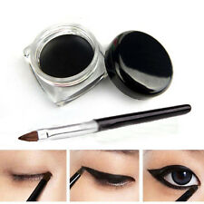 Waterproof Cosmetic Eye Liner Black Eyeliner Shadow Gel Makeup & Brush Tools