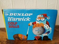 6 Vintage Dunlop Warwick Golf Balls In Christmas Sleeve