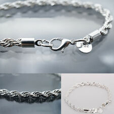New Jewelry Women Fashion Silver Plated Chain Bracelet Twisted rope