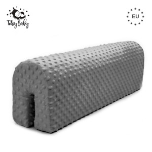 Bettkantenschutz Kinder Schaumstoffbettschutz Bettumrandung Kinderbetten Grau 70