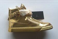 GIUSEPPE ZANOTTI London metallic leather hi-top trainers UK 9 EU 43 RRP £780