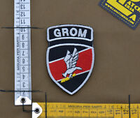 """Ricamata / Embroidered Patch """"Polish Grom Insigna"""" Black with VELCRO® brand hook"""