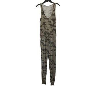 Generation Love Sz XS Green Camo Jumpsuit NWOT Joggers Tank Top Drawstring Waist