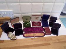 COLLECTION OF VINTAGE COIN & JEWELLERY BOXES.  ANTIQUE JEWELRY CASES. OLD BOXES
