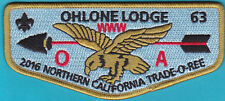 Ohlone Lodge 63 Order of the Arrow  WWW Trade O Ree Fund Raiser flap