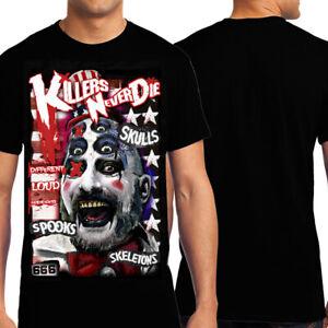 KND Sideshow Sig Haig Captain Spaulding House Of 1000 Corpses Mens T-Shirt Black