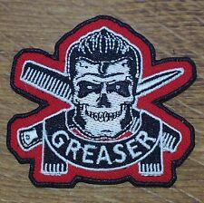 Motorcycle Biker Jacket Cafe Racer Rocker Rockabilly Cloth Patch Badge GREASER
