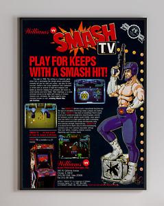 Smash TV 1990 Williams Arcade Retro Video Game Print Poster 18 x 24 inches