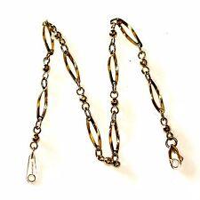 "New 14k yellow gold polished diamond cut ankle bracelet 3.5g anklet 9"" fashion"