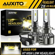 2X AUXITO H7 White LED Headlight Bulb High/Low Beam Fog 9000LM kit 6000K EOA
