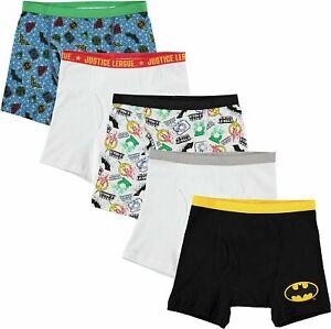 Justice League Boys 5 Pack Boxer Briefs