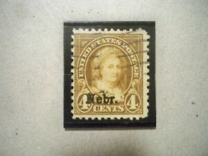 "USA Used, 1929 Issue, 4 Cent Martha Washington, Rotary Press, ""Nebr"" Overprint,"