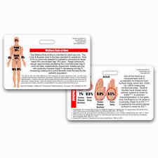 Rule of 9 Burn Chart Horz Badge Reference ID Pocket Card Nurse RN MD PA EMT Nine