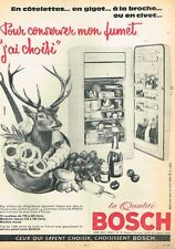 E- Publicité Advertising 1962 Le Refrigerateur Bosch