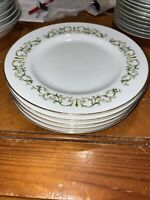 "(5) Bell Flower Fine China of Japan  7 1/2"" Dinner Plates Pattern 2999 Set of 5"