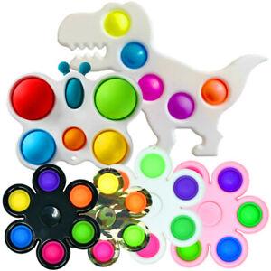 Pop Fidget Toy Push It Simple Dimple Bubble Key Chain Sensory Stress Relief Toy