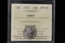 1955 Canada. 10 Cents. ICCS Graded MS-64 Cameo. (XLV169)