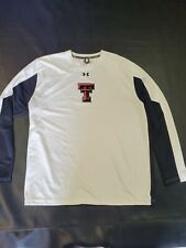 Under Armour Heat Gear Loose Xlarge Texas Tech Long Sleeve Shirt XL Black White